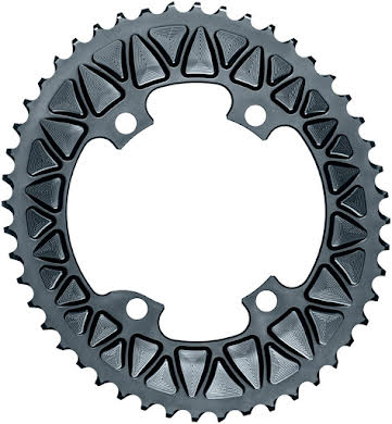 Absolute Black Premium Sub-Compact Oval 110 BCD Road Outer Chainring - Shimano Asym BCD, 4-Bolt, Narrow-Wide alternate image 0