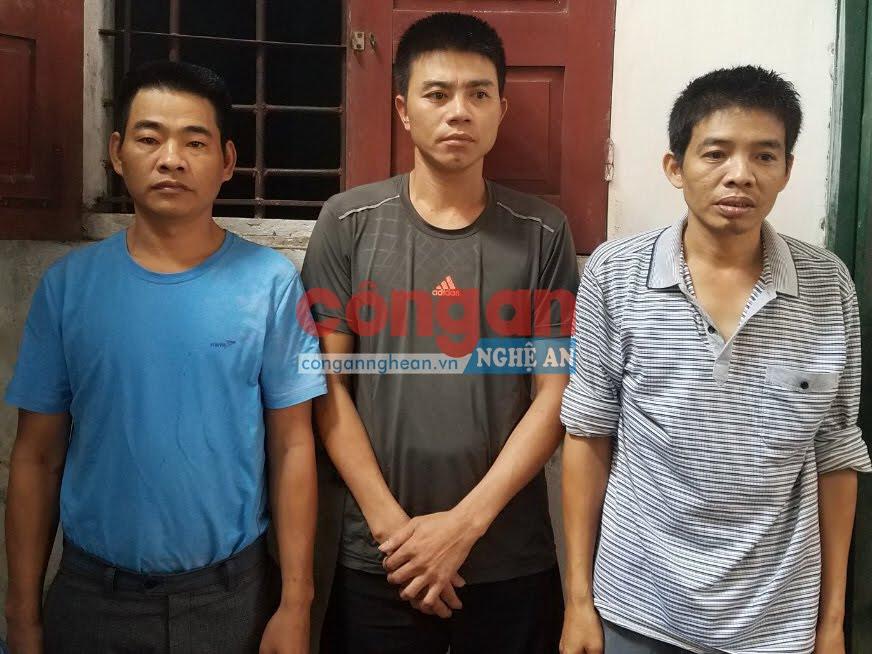 3 đối tượng bị Công an huyện Đô Lương bắt giữ