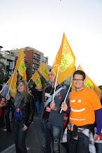 """Photo: 16/04/2011. MANIFESTACIÓ DEL 25 D'ABRIL a València, convocada per Acció Cultural del PV, sota el lema """"Sí a TV3"""". Fotos: PRATS i CAMPS."""