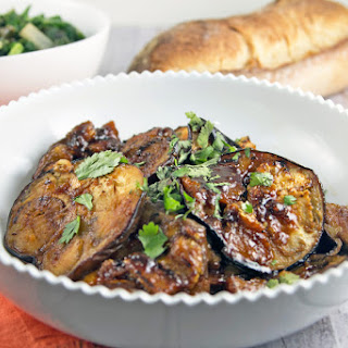 Moroccan Honey Glazed Eggplant
