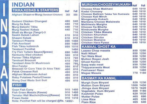 Harpal Foods menu 1