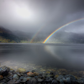 Rainbows by Sigbjørn Fjellheim - Landscapes Weather ( nature, autum, weather, norway, water )
