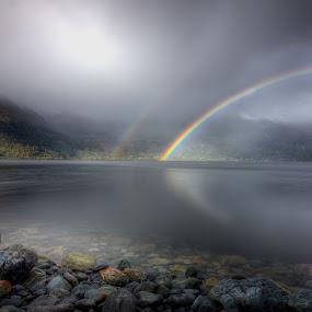 Rainbows by Sigbjørn Fjellheim - Landscapes Weather ( nature, autum, weather, norway, water )