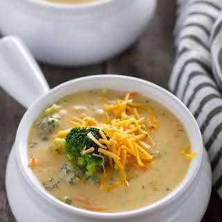 Cheese Soup (with Mushrooms And Broccoli).