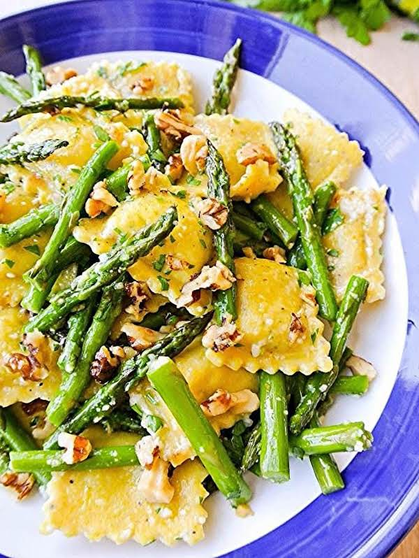 Ravioli + Asparagus In A Lemon-brown Butter Sauce Recipe