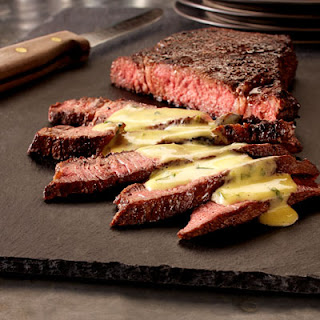 Chile Seared Steak With Cilantro Lime Hollandaise Sauce.
