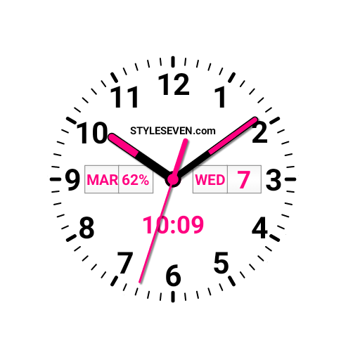 Analog Clock Plus AW-7 PRO app for Android