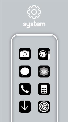 iOS 14 Black - Icon Pack