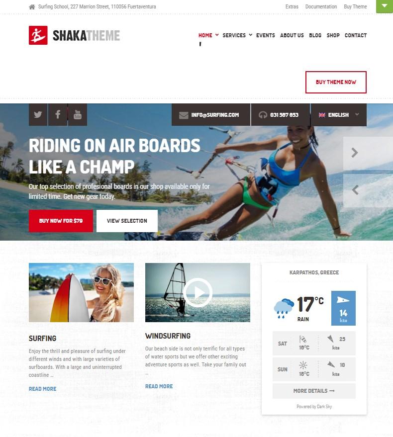 Shaka Theme for WordPress