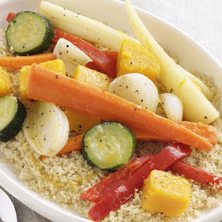 Cumin-Spiced Couscous with Sautéed Vegetables.