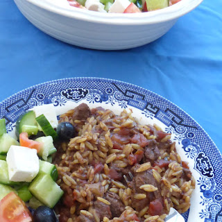 Venison Slow Cooker Giouvetsi with Orzo.