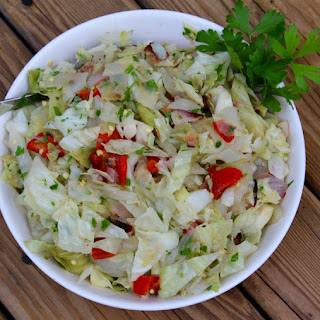 Grilled Pepper & Cabbage Slaw with Bacon