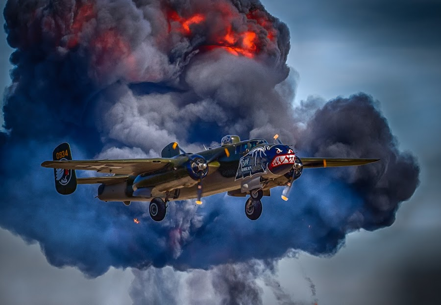 by Ron Meyers - Transportation Airplanes ( betty's dream, bomber, b-25, vintage wwii aircraft, fireball, airshow )