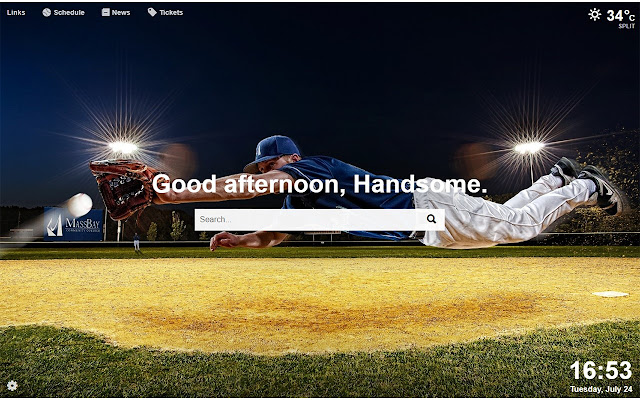 Baseball Dash - Baseball MLB New Tab Page