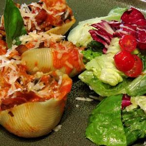 Chicken and Wild Mushroom Stuffed Shells