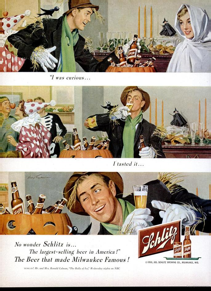 Photo: Schlitz beer - 1950