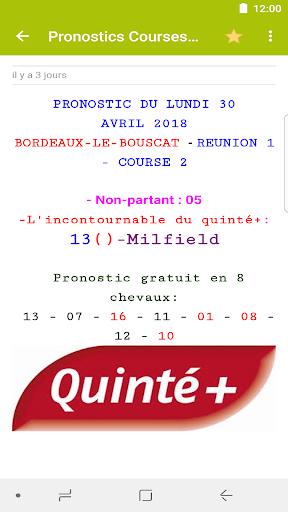 Pronostics Courses : Tiercu00e9, Quartu00e9, Quintu00e9 5.0.1 screenshots 8