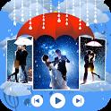 rain photo slide show with music icon