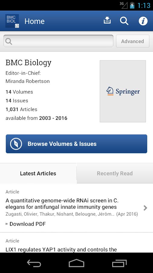 BMC Biology- screenshot