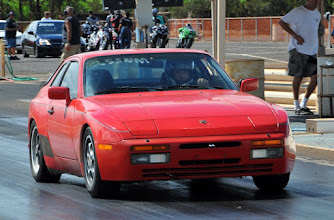 """Photo: Rare to see a Porsche at the drags, especially a relatively """"funky"""" older one..."""