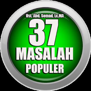 37 Masalah Populer Dalam Keseharian- Ust.Abd Somad - náhled