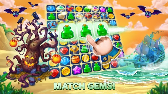Pirates & Pearls: A Treasure Matching Puzzle MOD (Unlimited Health) 7