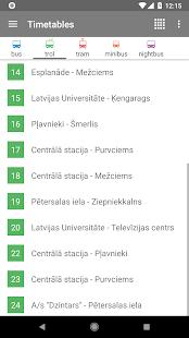 Riga Transport - timetables - náhled