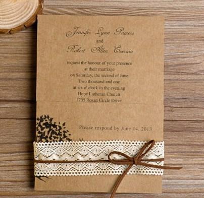 クリエイティブ結婚式の招待状