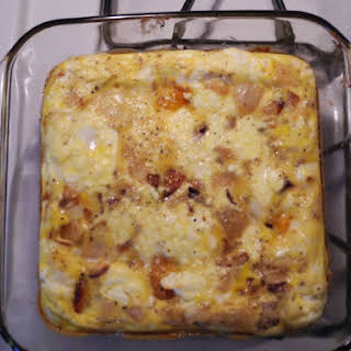 Butternut Squash and Goat Cheese Frittata.