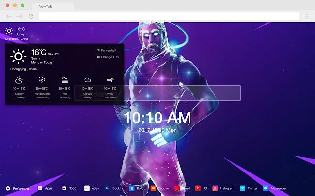 Fortnite Galaxy Skin Pop HD New Tabs Theme