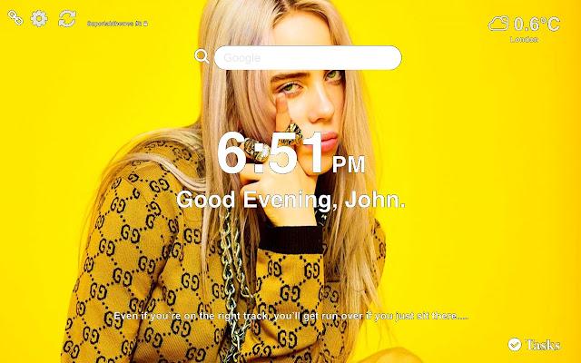 Billie Eilish HD Wallpapers New Tab