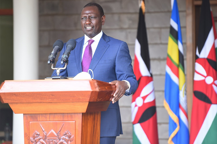 Deputy President William Ruto addresses the press from his Karen office on April 9.