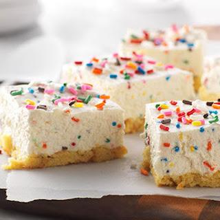 Birthday Cake No-Bake Cheesecake Bars