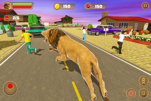 Angry Lion Sim City Attack screenshot 2