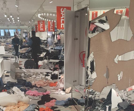 The Sandton City H&M store after EFF members ransacked it over the racially offensive advert.