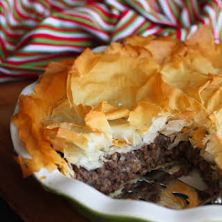 Spiced Meat Phyllo Pie (Tourtière).