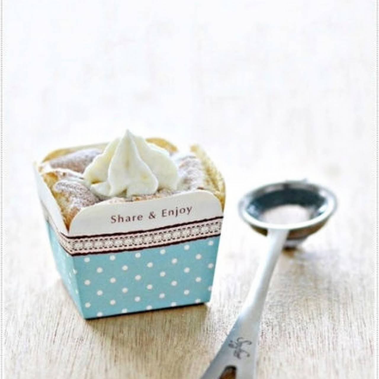 Durian Hokkaido Chiffon Cupcakes