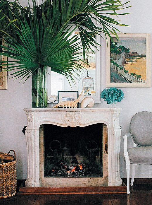 Shabby Chic open fireplace ideas