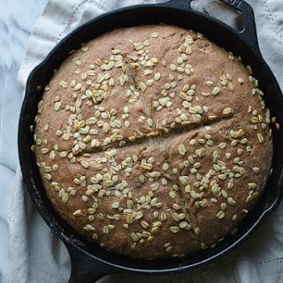 Whole Wheat No-Knead Skillet Bread