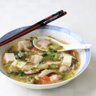 Miso Soup with Pork Belly and Tofu.