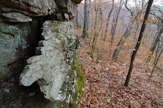 Photo: Cool rock slab at base of bluff