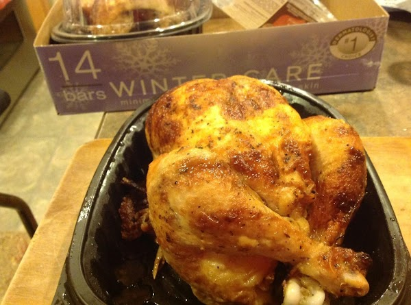 Purchase rotisserie chicken and cut into 8 pieces. Or quarter into 4 if desired.