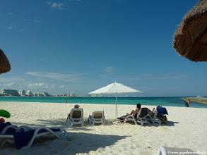 Photo: #010-La plage du Club Med Cancún Yucatán.