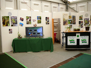 Photo: Special CP-exhibition at the Regio-Messe 2010. Our CP-cinema showing our Hunting Veggies videos and the info-corner.