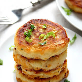 Leftover Mashed Potato Cheddar Ranch Cakes.