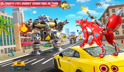 Wild Fox Transform Bike Robot Shooting: Robot Game 12 screenshots 17