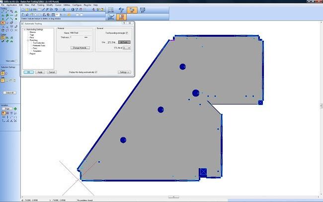 Radan Essential Punch – простое САМ-решение для полноценного использования всех возможностей имеющихся у клиента CAD-программ при подготовке изделий из листового металла к координатной пробивке.
