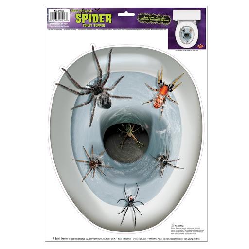 Spider Toilet Topper Peel 'N P...