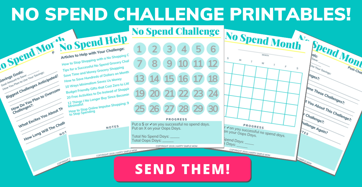 Click for your no spend challenge printable