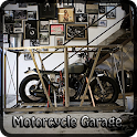 Motorcycle Garage. icon
